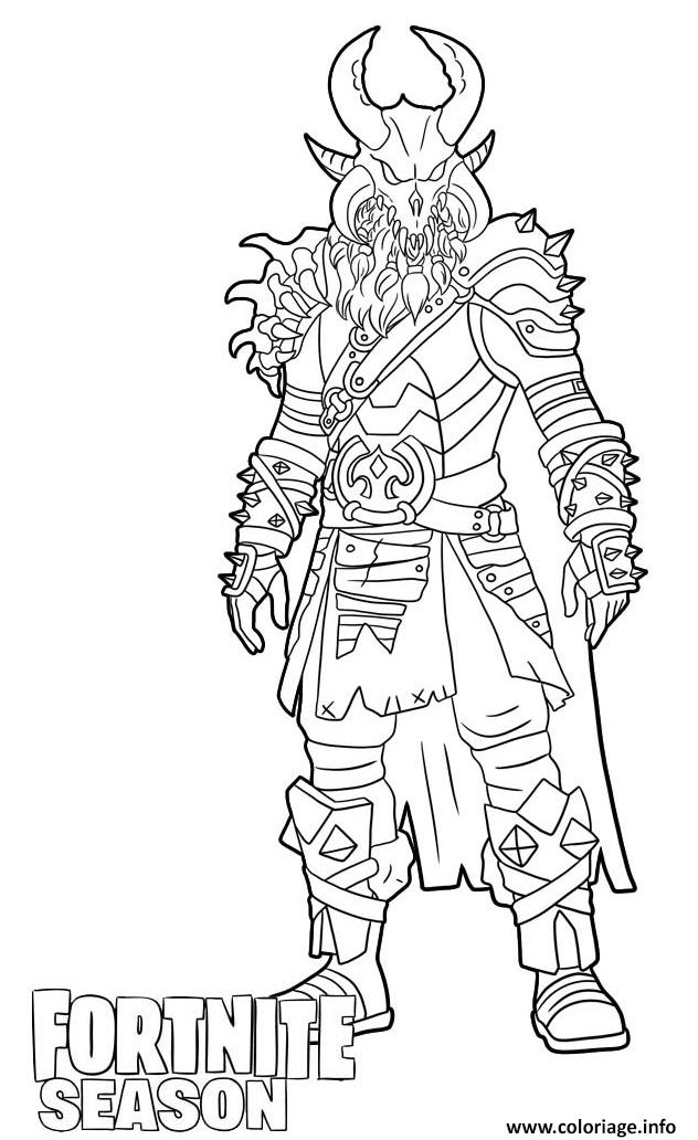 Coloriage Ragnarok Skin From Fortnite Dessin à Imprimer