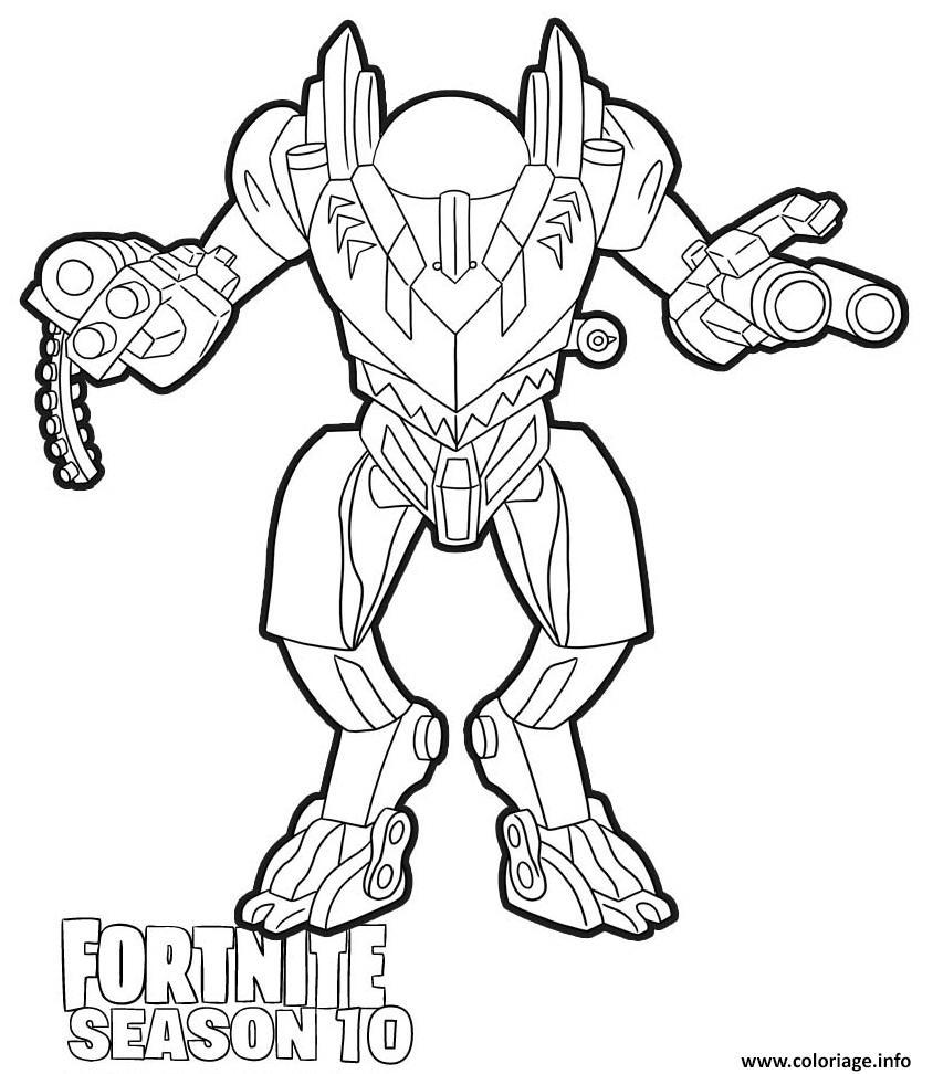 Coloriage Brute Mech Fortnite Season 10 Dessin