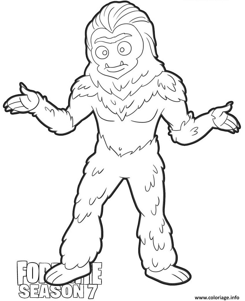 Coloriage Trog Skin From Fortnite Season 7 Dessin à Imprimer