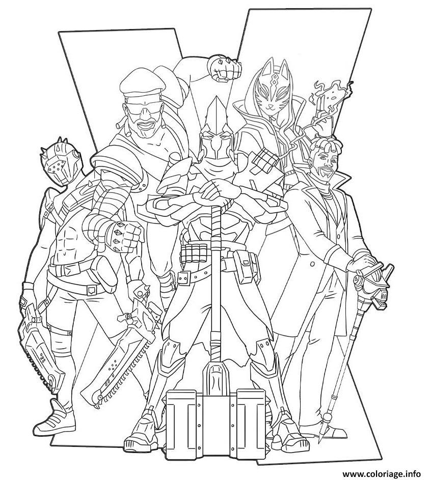 Coloriage Fortnite Season 10 Poster Dessin Fortnite A Imprimer