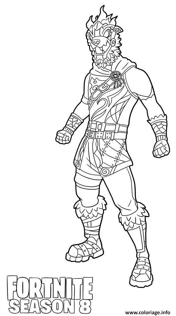 Dessin Molten Battle Hound from Fortnite Season 8 Coloriage Gratuit à Imprimer