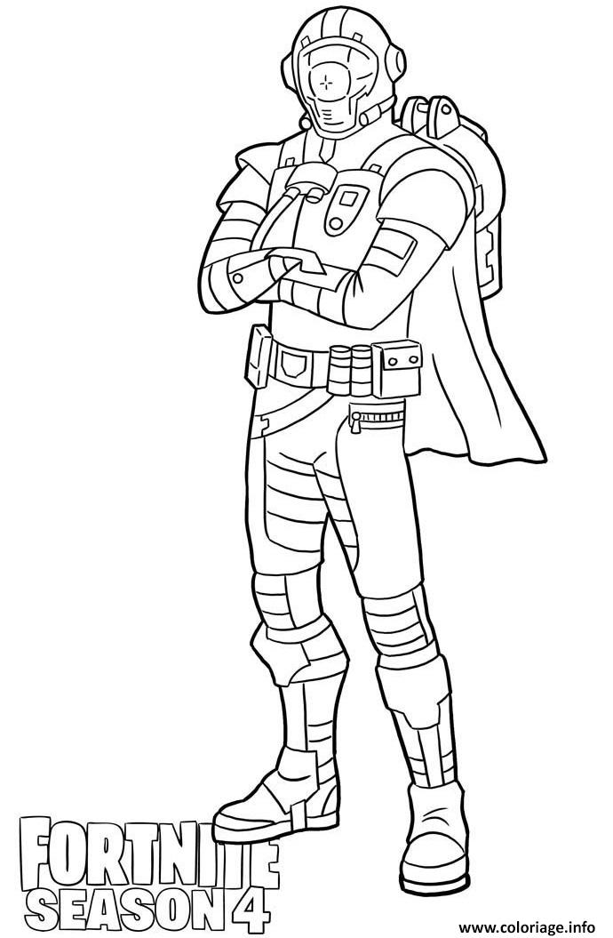 Coloriage Visitor Skin From Fortnite Season 4 Dessin à Imprimer