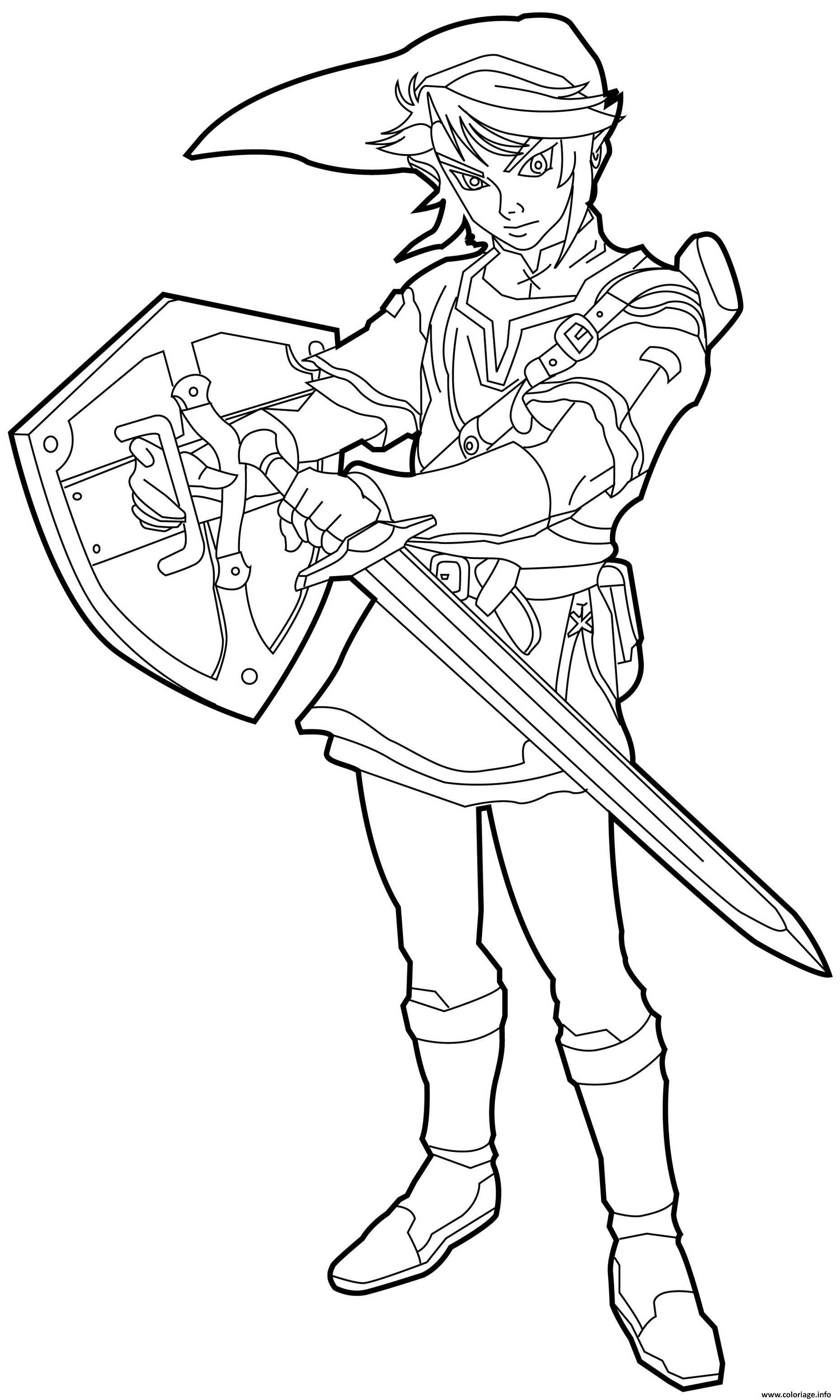 Coloriage The Legend Of Zelda Par Shigeru Miyamoto Et Takashi