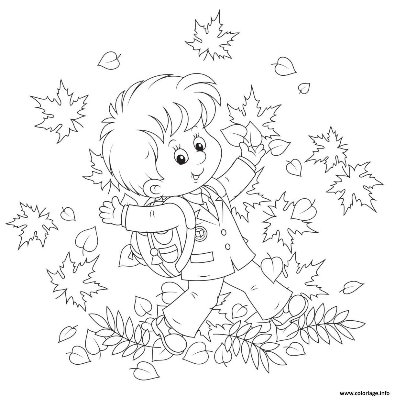 Coloriage Enfant Joyeux De Feter Action De Grace Dessin