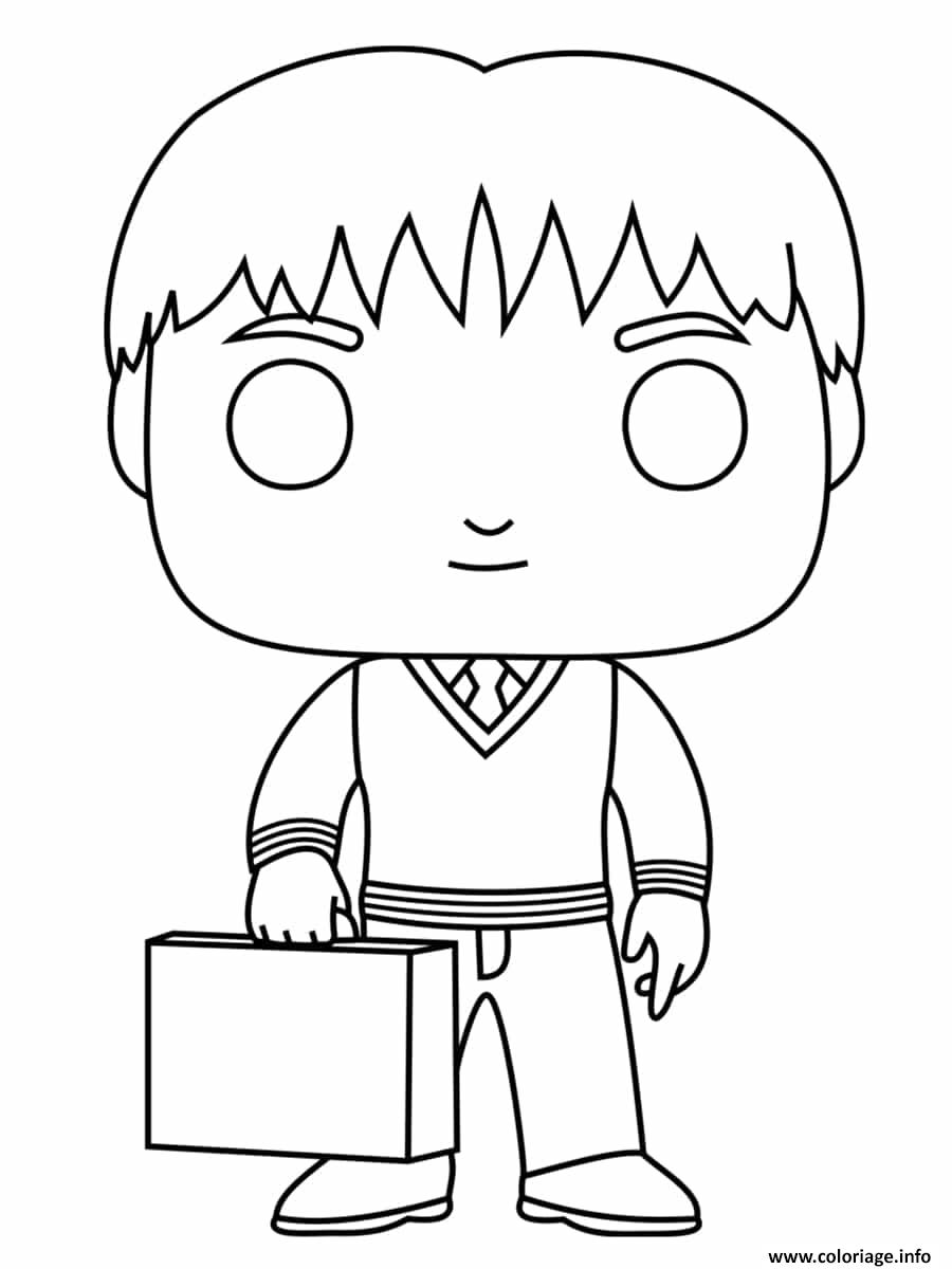 Coloriage Fred Weasley dessin
