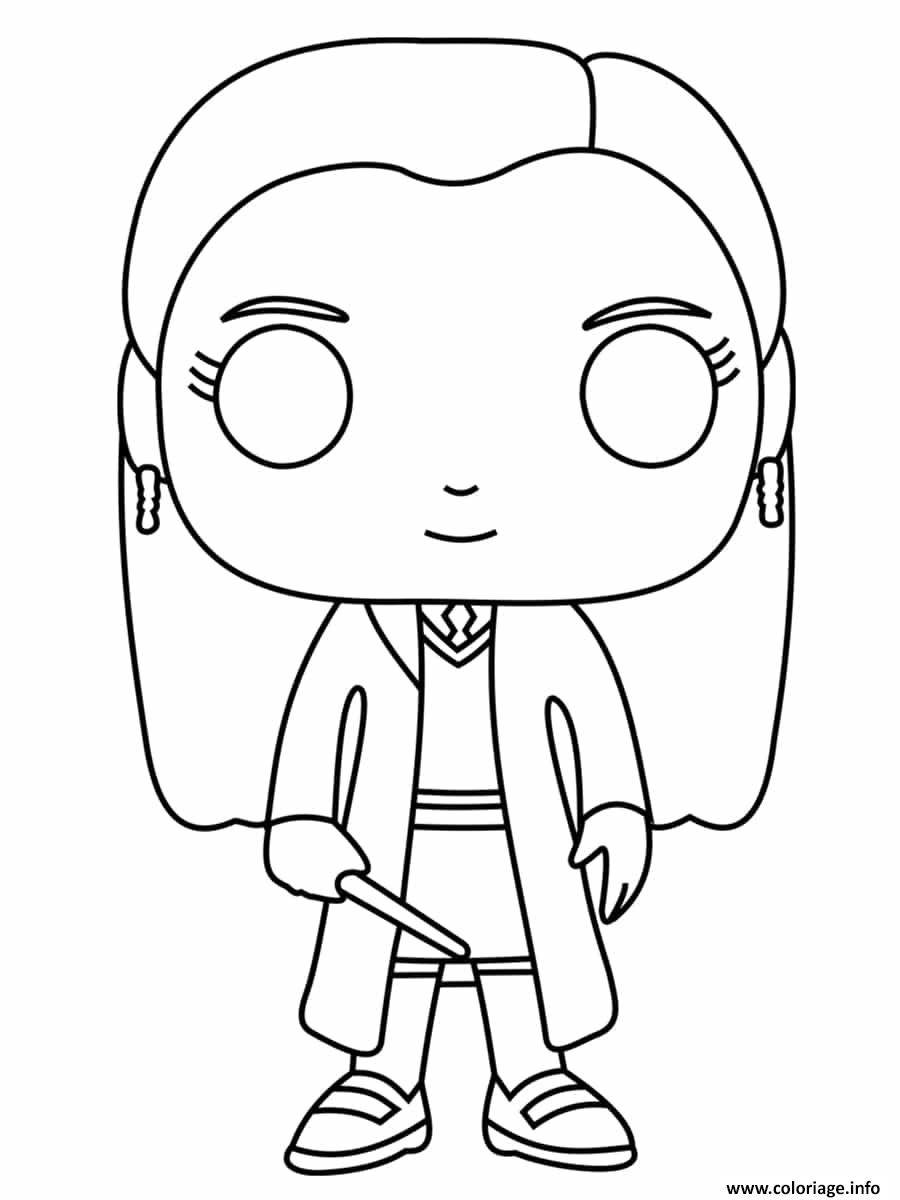 Coloriage Giny Weasley Funko Pop Dessin Harry Potter A Imprimer
