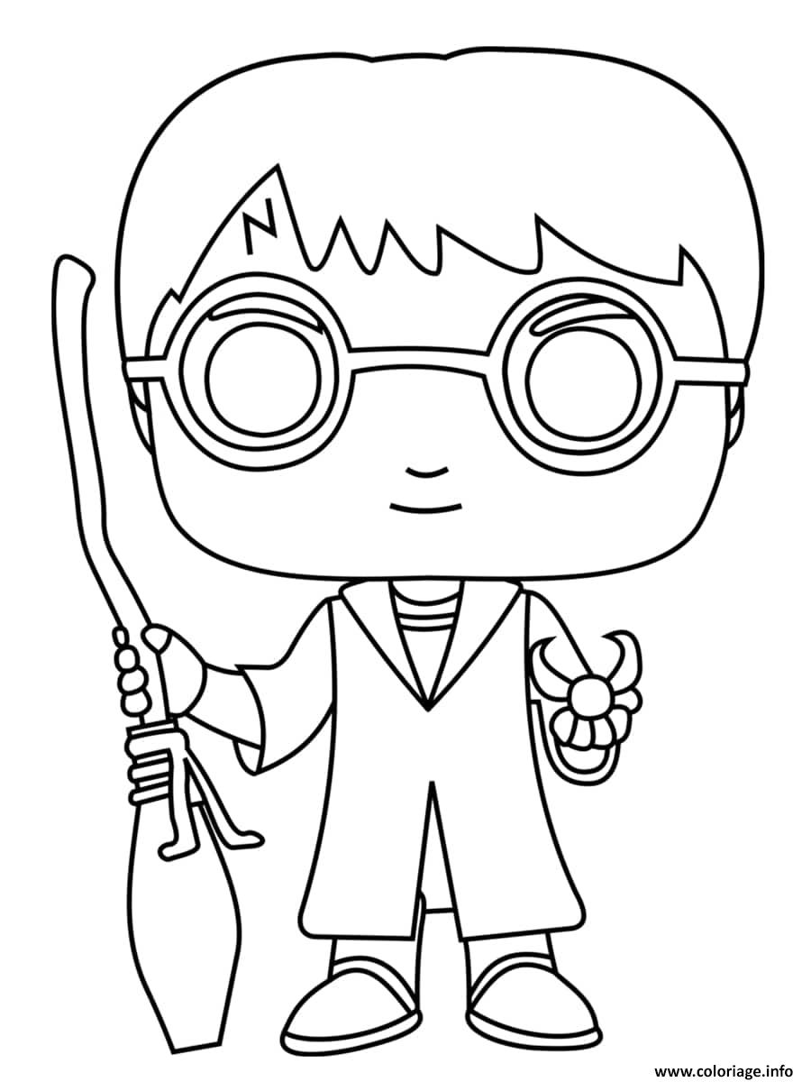 Coloriage Harry Potter Balai Dessin