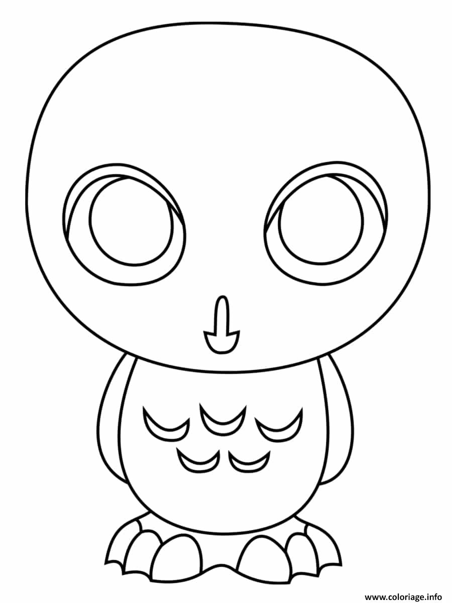 Coloriage Hibou Harry Potter Dessin