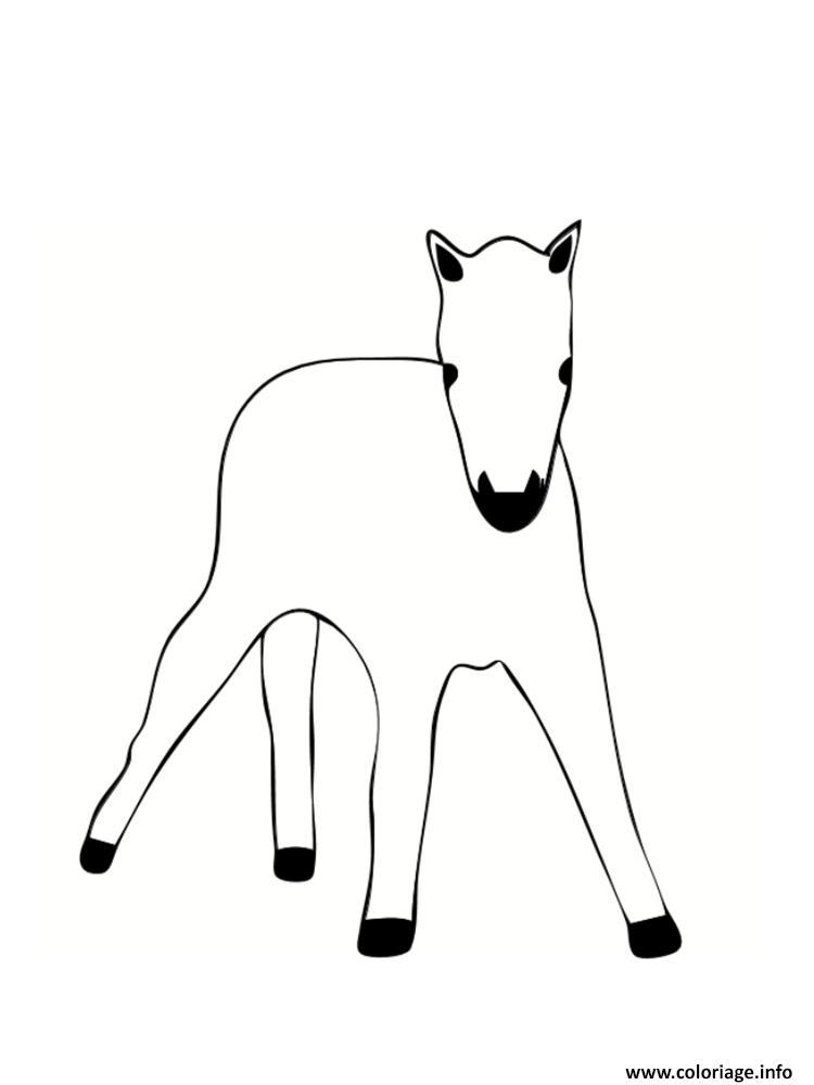 Dessin poulain bebe poney Coloriage Gratuit à Imprimer