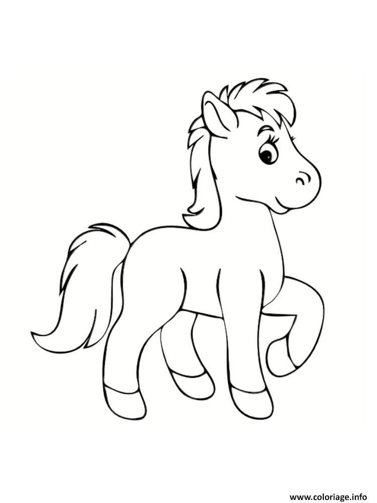 Coloriage Petit Poney Cheval De Petite Taille Dessin Poney A Imprimer