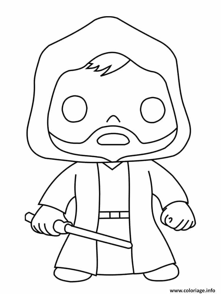Coloriage Obi Wan Kenobi Dessin