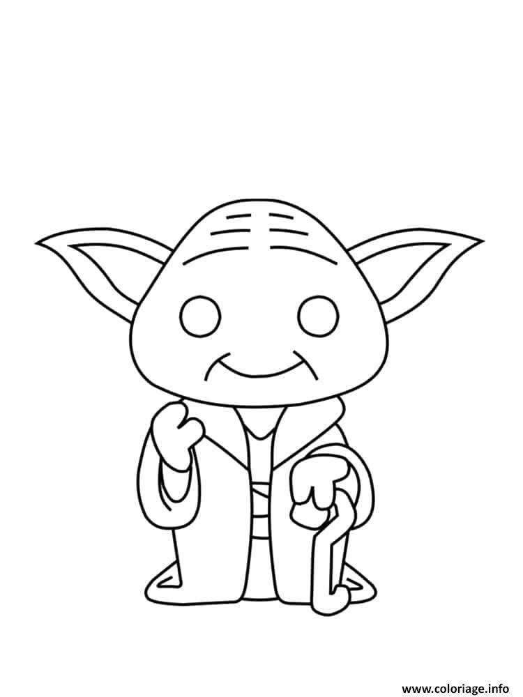Dessin Yoda Coloriage Gratuit à Imprimer