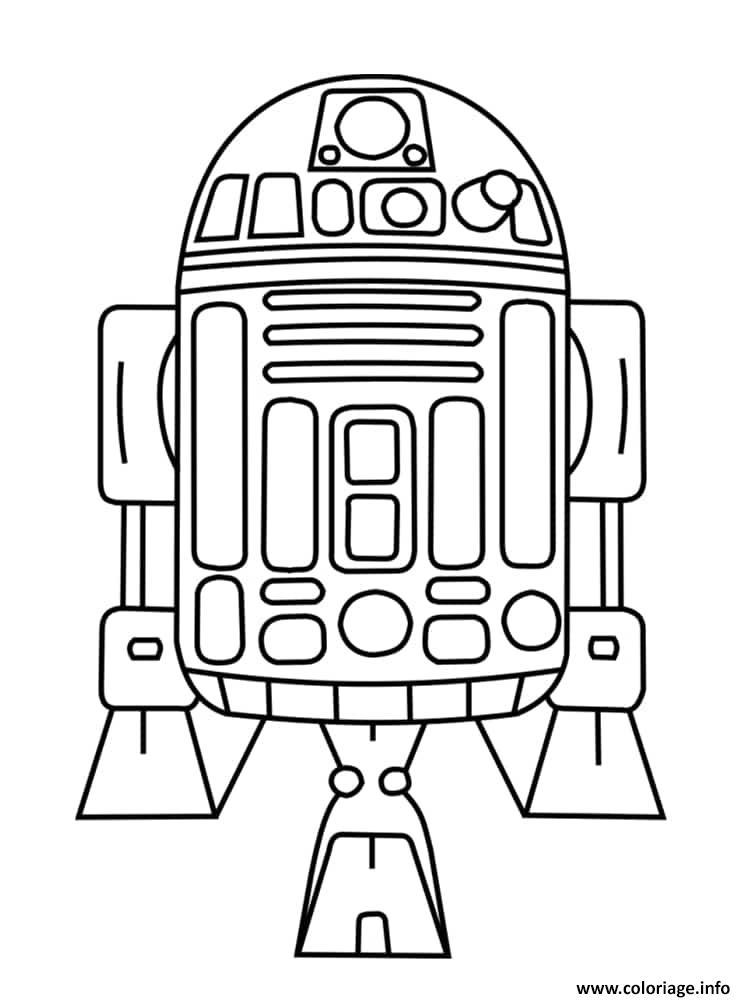 Dessin R2 D2 Star Wars Coloriage Gratuit à Imprimer
