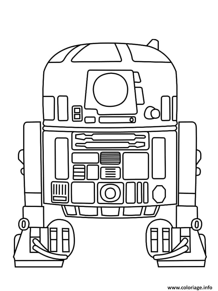 Coloriage R2d2 Dessin Star Wars A Imprimer