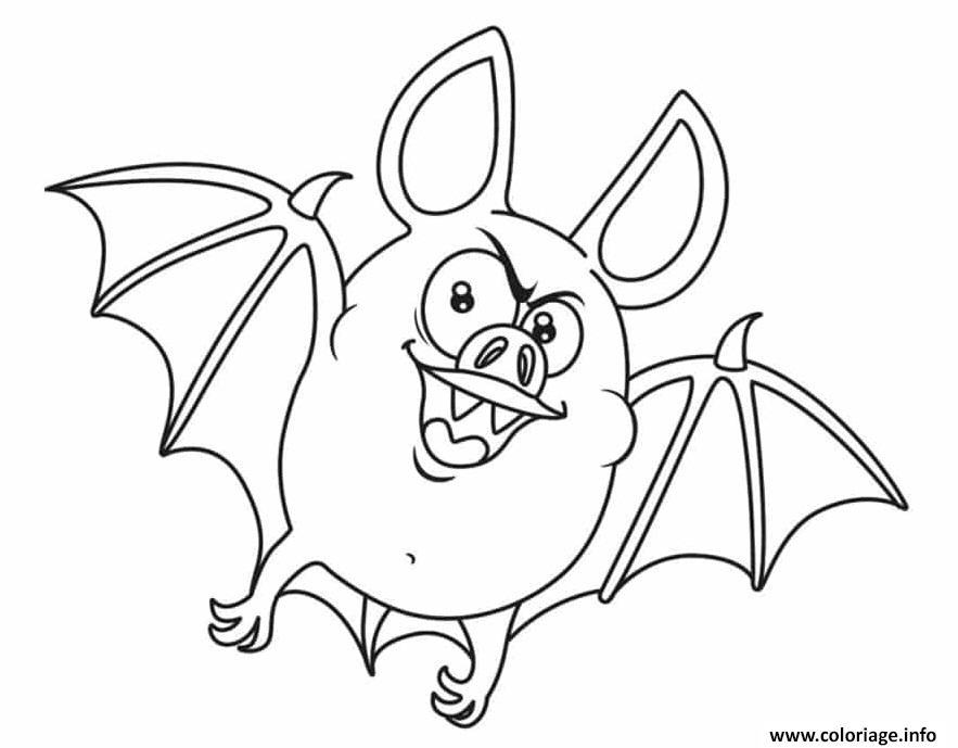 Dessin chauve souris vampire Coloriage Gratuit à Imprimer