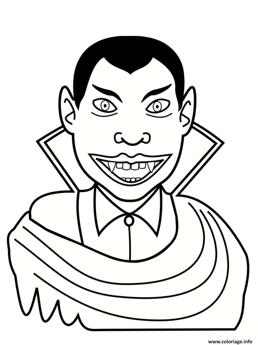 Dessin vampire se nourrit de chair Coloriage Gratuit à Imprimer