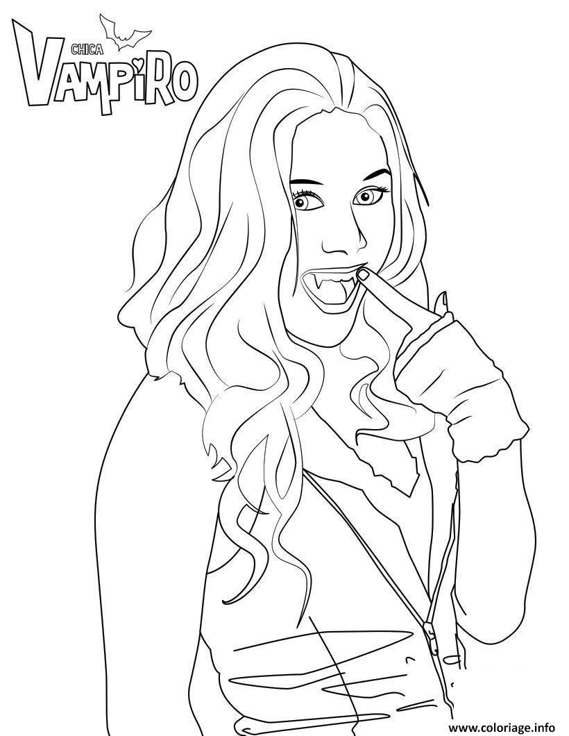 Dessin vampire chica vampiro Coloriage Gratuit à Imprimer