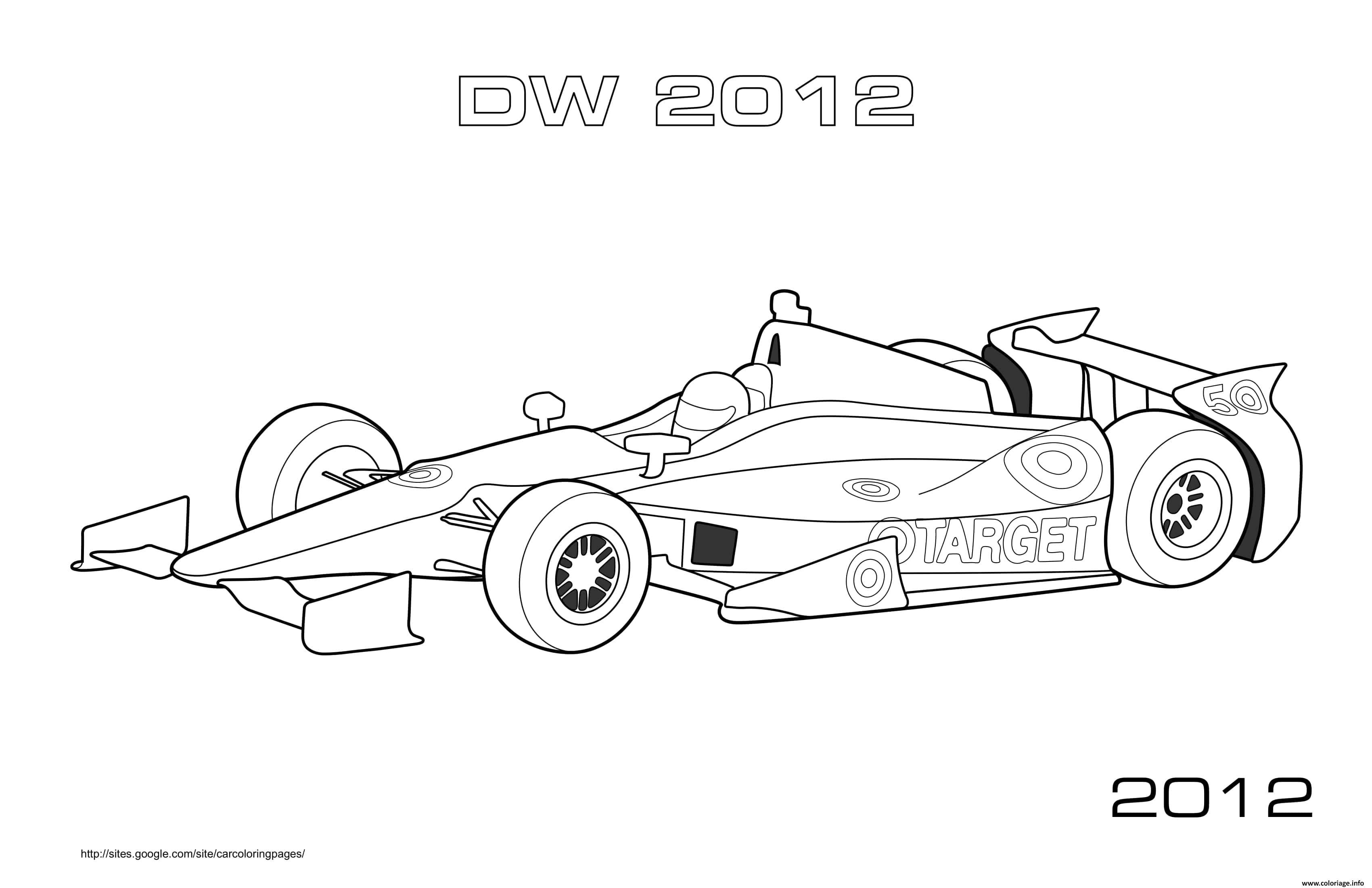 Dessin F1 Dw 2012 Coloriage Gratuit à Imprimer