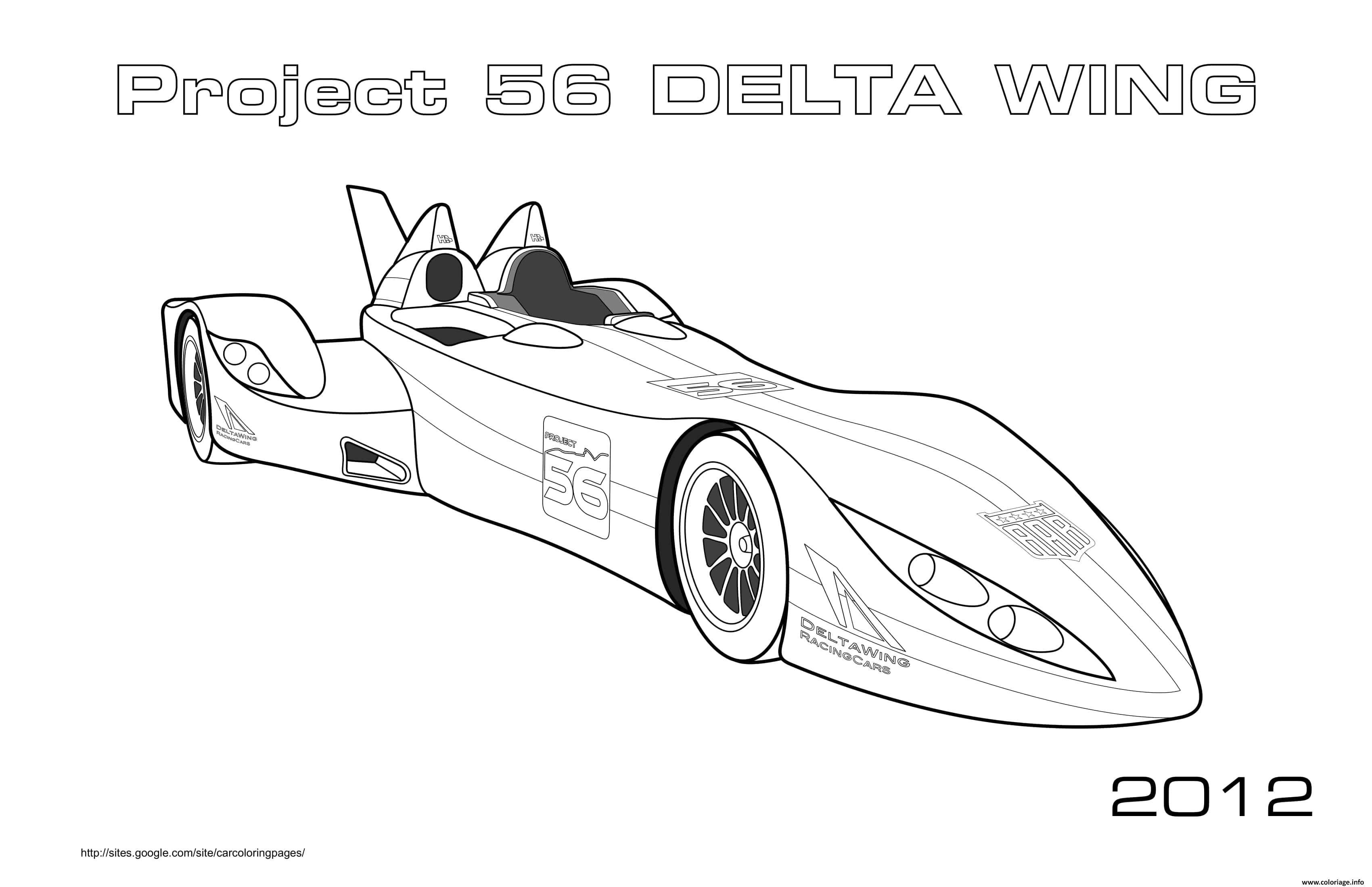 Dessin Project 56 Delta Wing 2012 Coloriage Gratuit à Imprimer