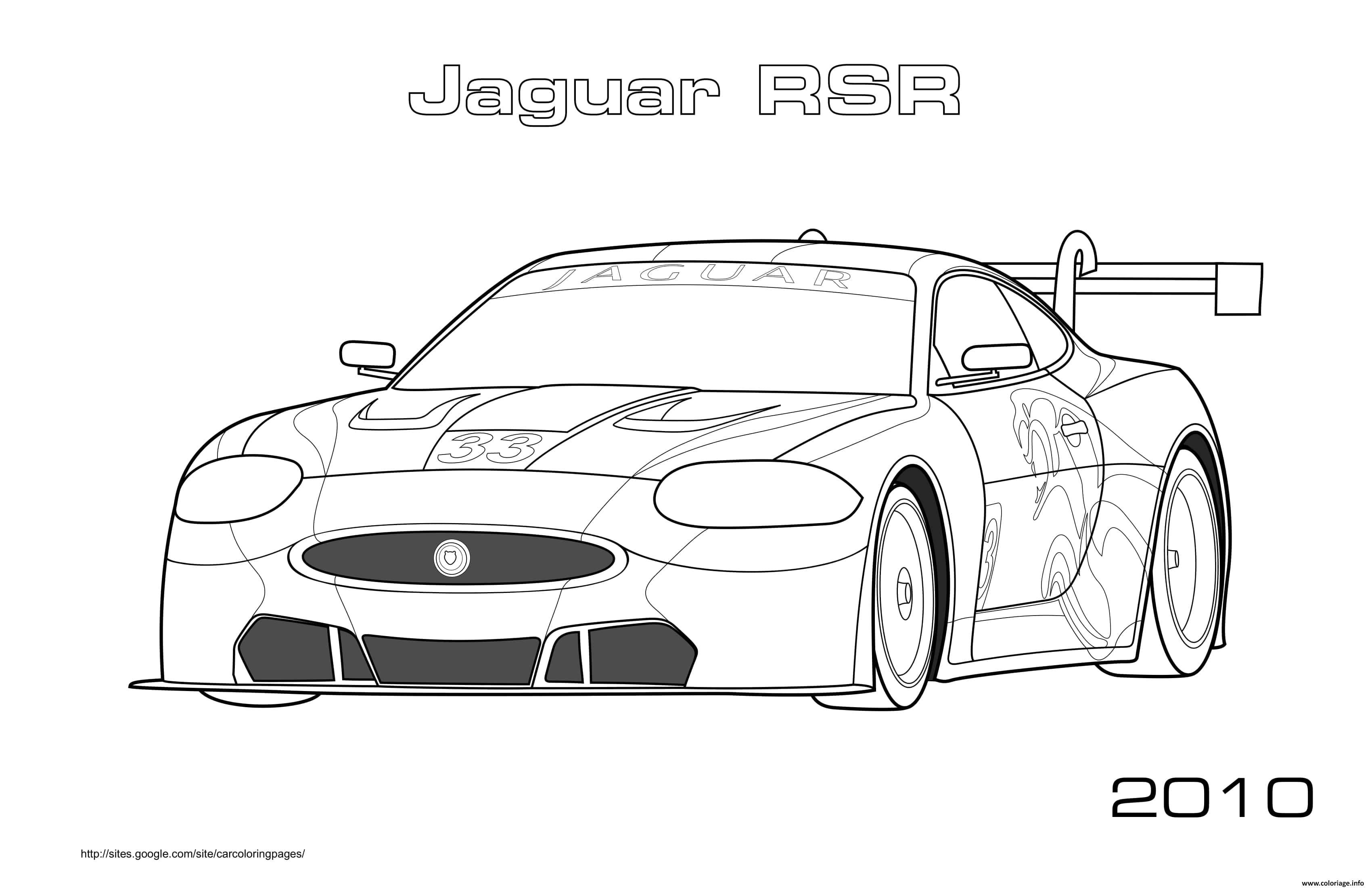 Coloriage Jaguar Rsr 2010 Dessin Voiture A Imprimer