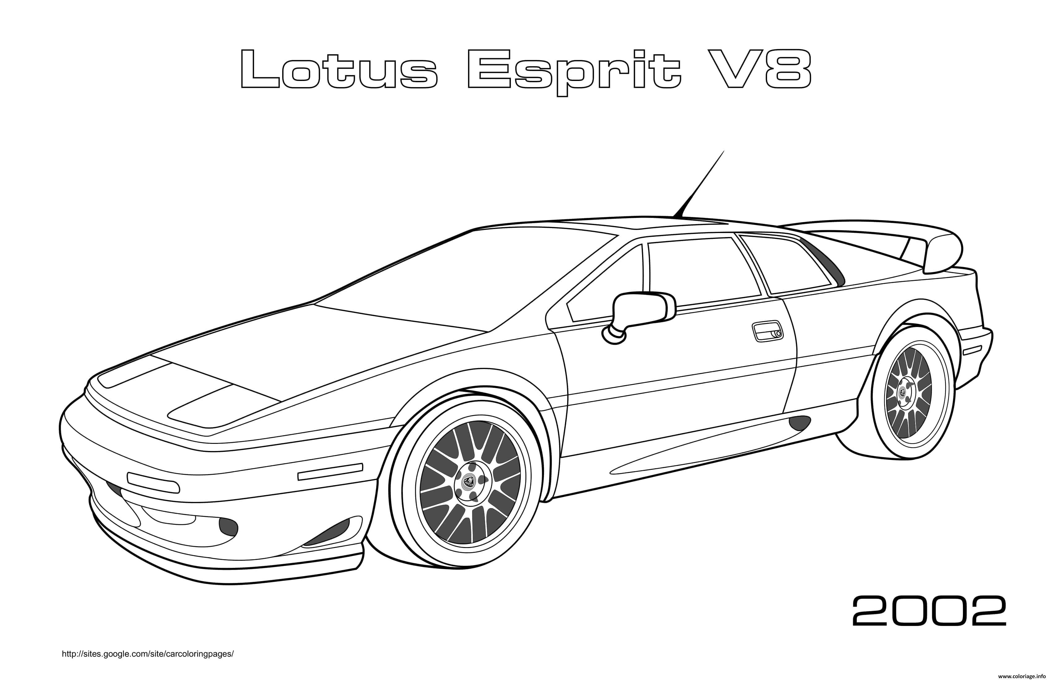 Dessin Lotus Esprit V8 2002 Coloriage Gratuit à Imprimer