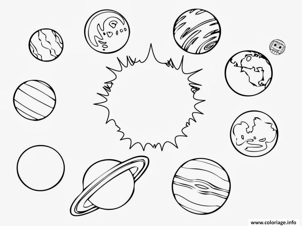 Coloriage Systeme Solaire Planetes Dessin