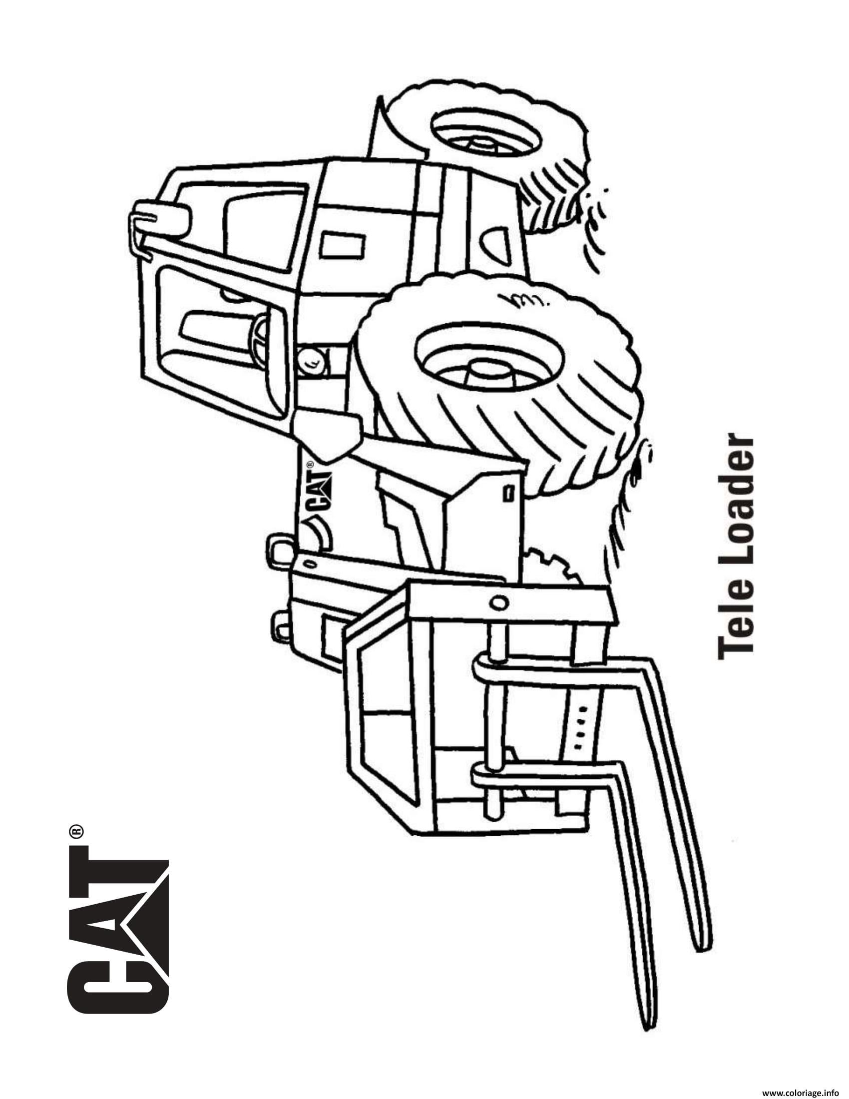 Coloriage Tele Loader Camion dessin