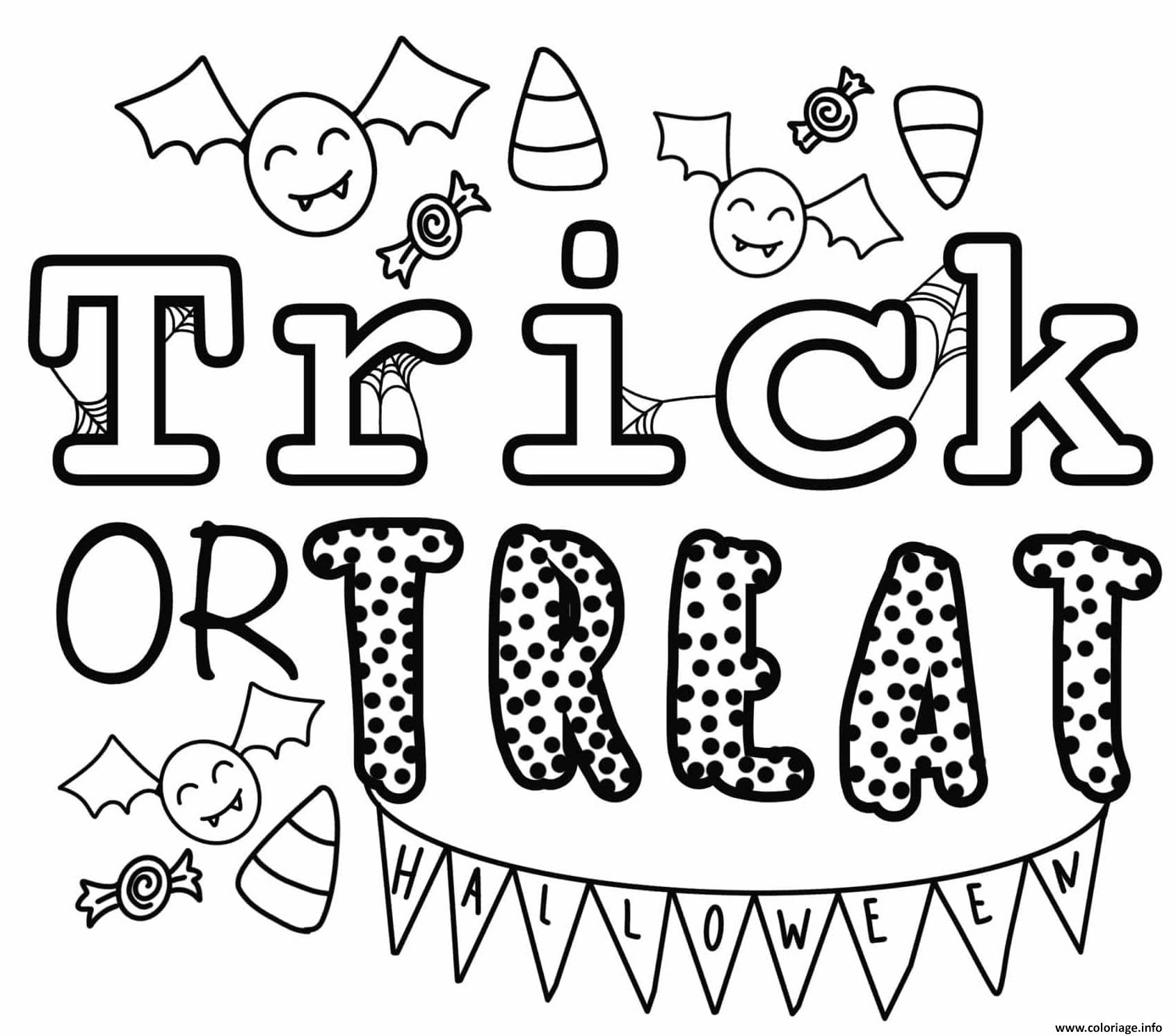 Dessin trick or treat halloween by Heather Hinson Coloriage Gratuit à Imprimer