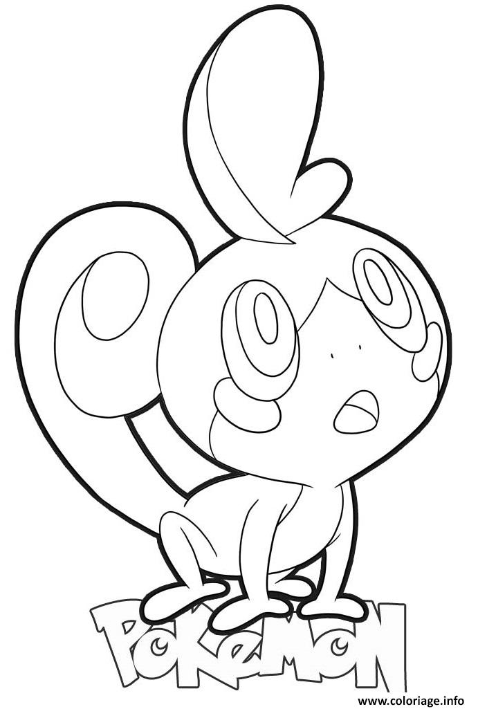 Coloriage Sobble Pokemon Dessin à Imprimer