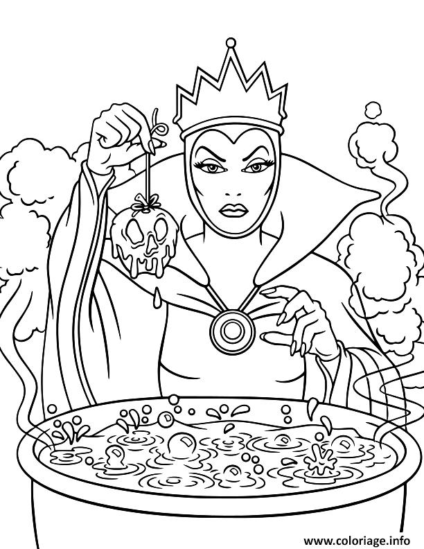 Dessin the evil queen disney halloween Coloriage Gratuit à Imprimer