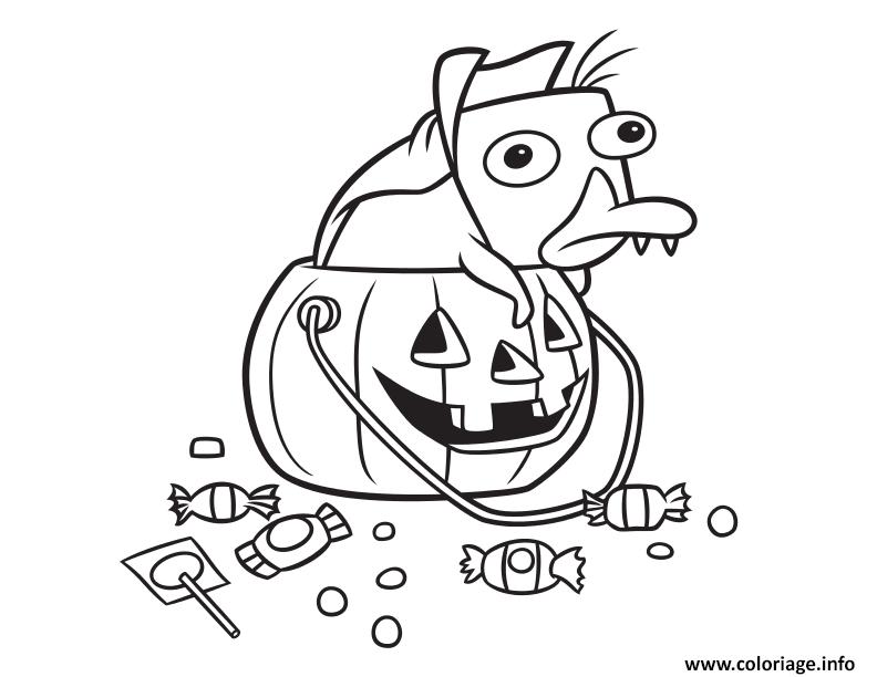 Dessin perry halloween Coloriage Gratuit à Imprimer