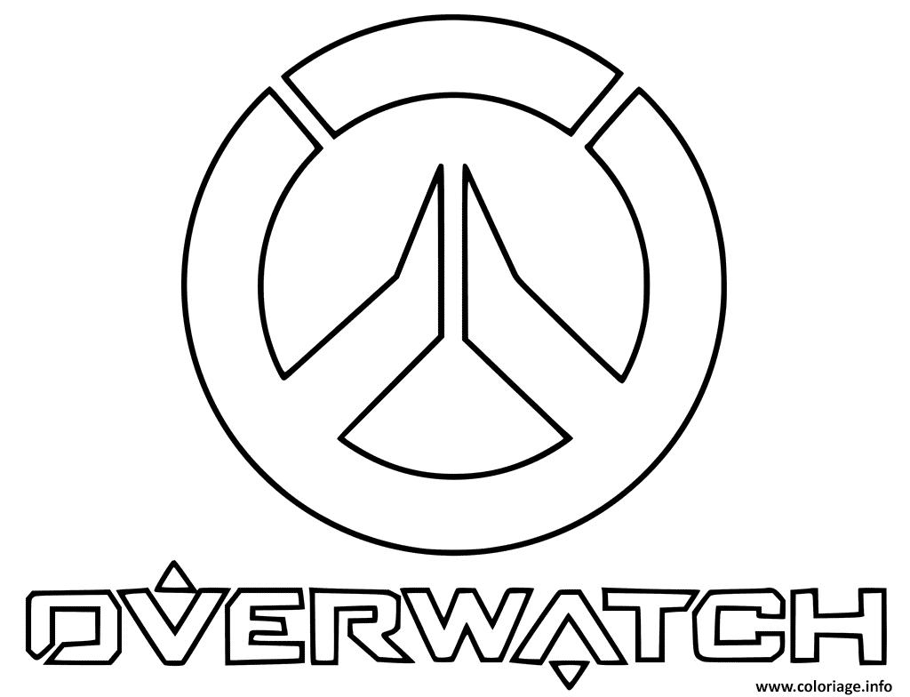 Dessin overwatch Logo Coloriage Gratuit à Imprimer