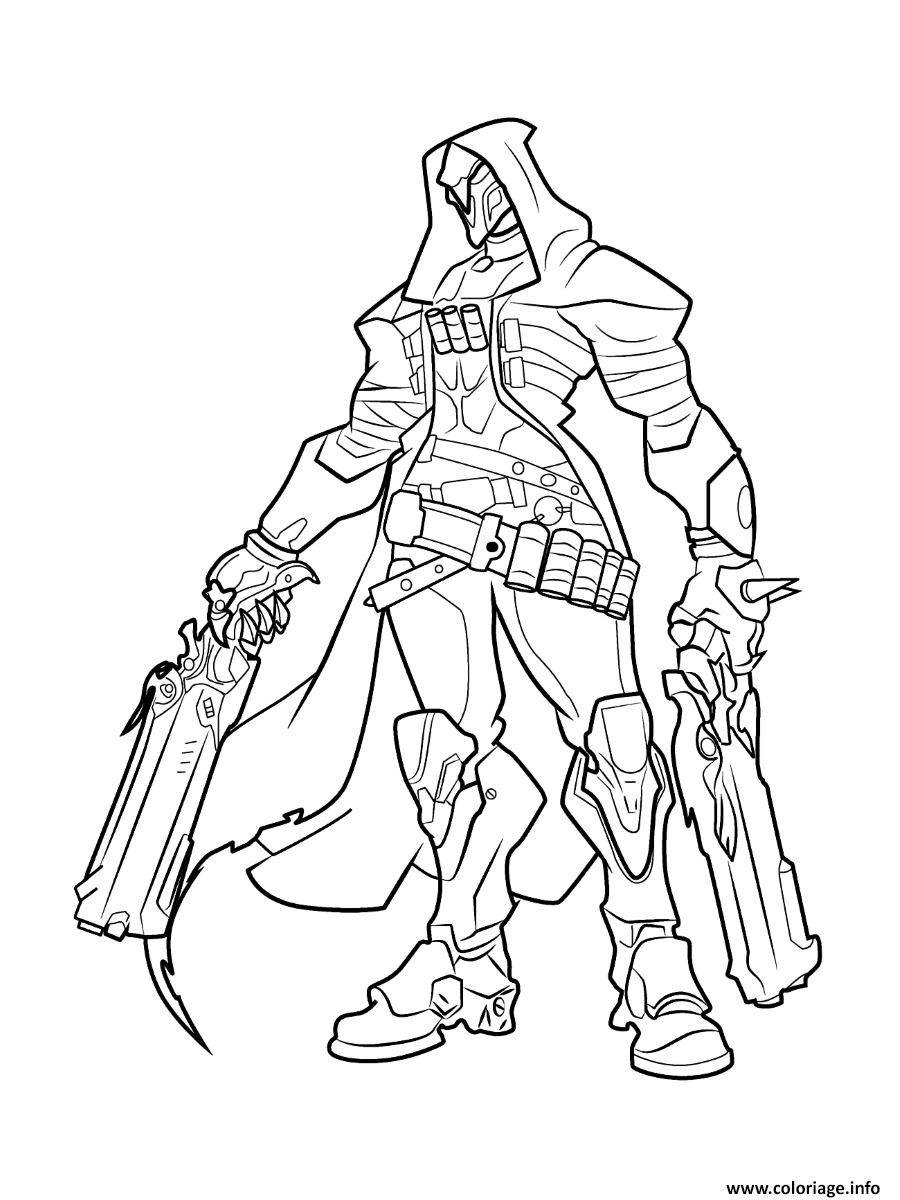 Dessin overwatch Reaper Coloriage Gratuit à Imprimer