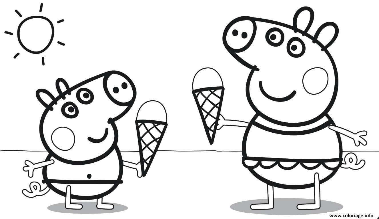 Dessin une delicieuse creme glacee Coloriage Gratuit à Imprimer