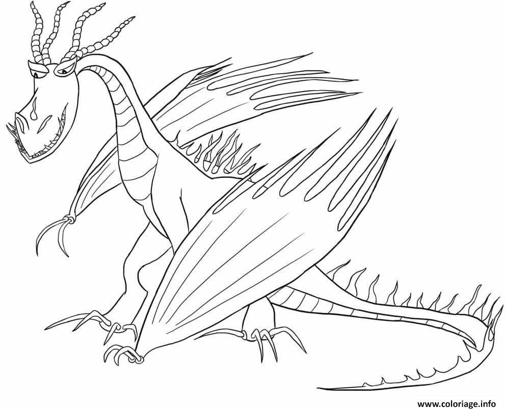 Dessin Hookfang Dragon Coloriage Gratuit à Imprimer