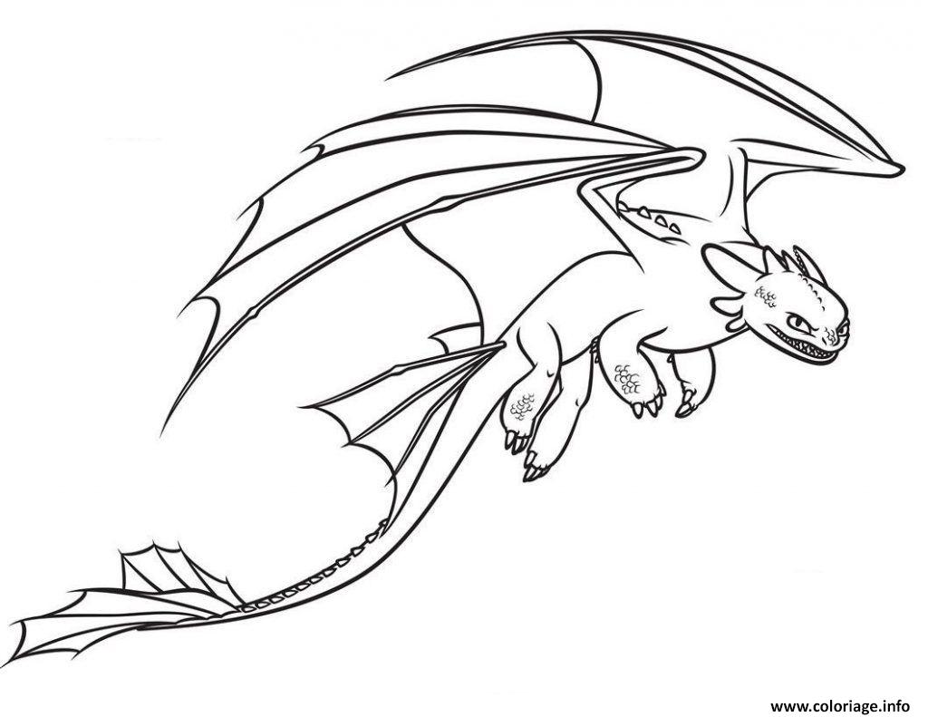 Coloriage Toothless Fastest Dragon dessin