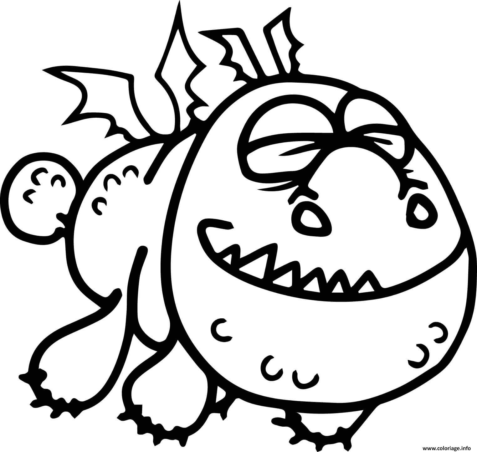 Dessin Baby Gronckle Dragon Coloriage Gratuit à Imprimer