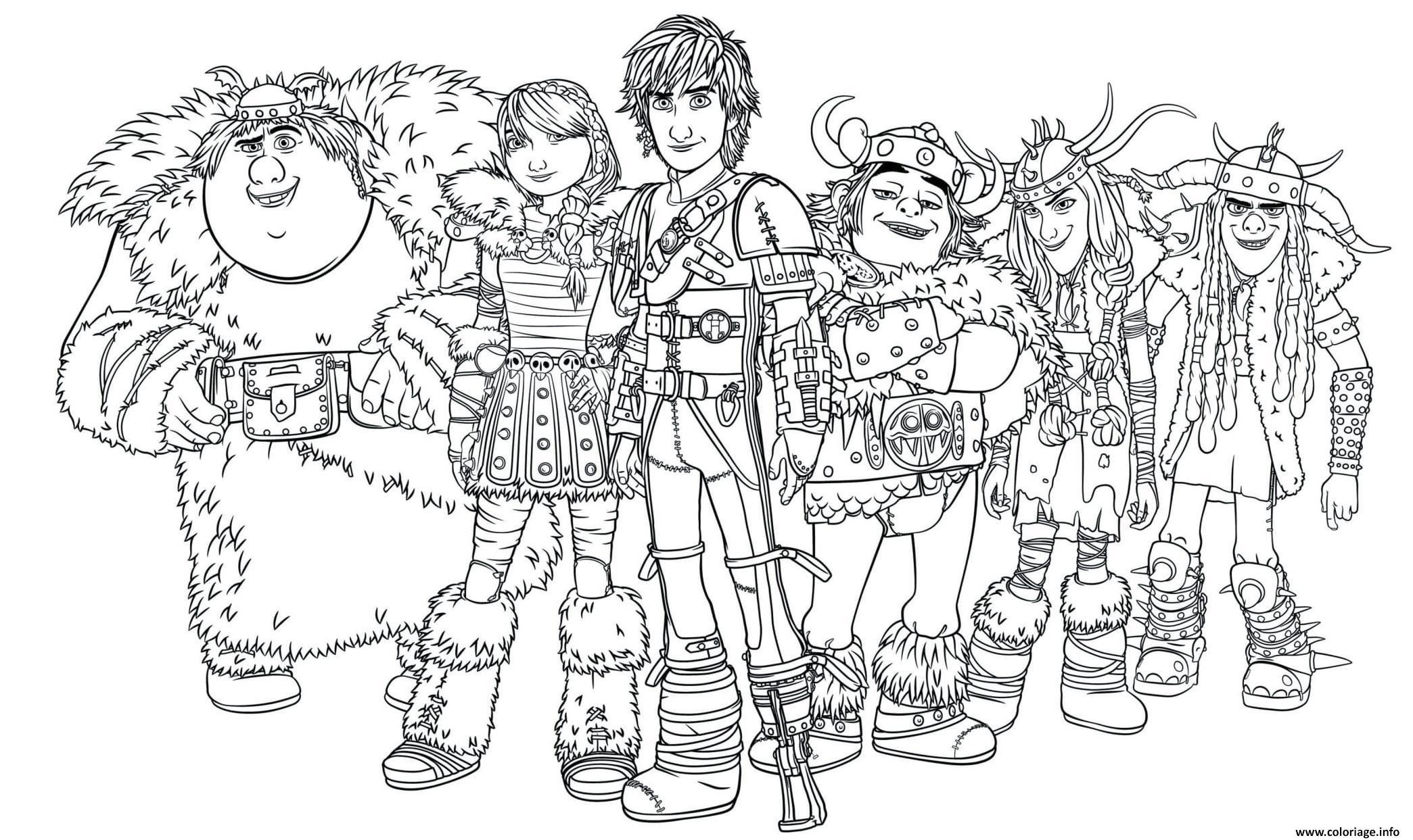Dessin dragon riders Dragons Coloriage Gratuit à Imprimer