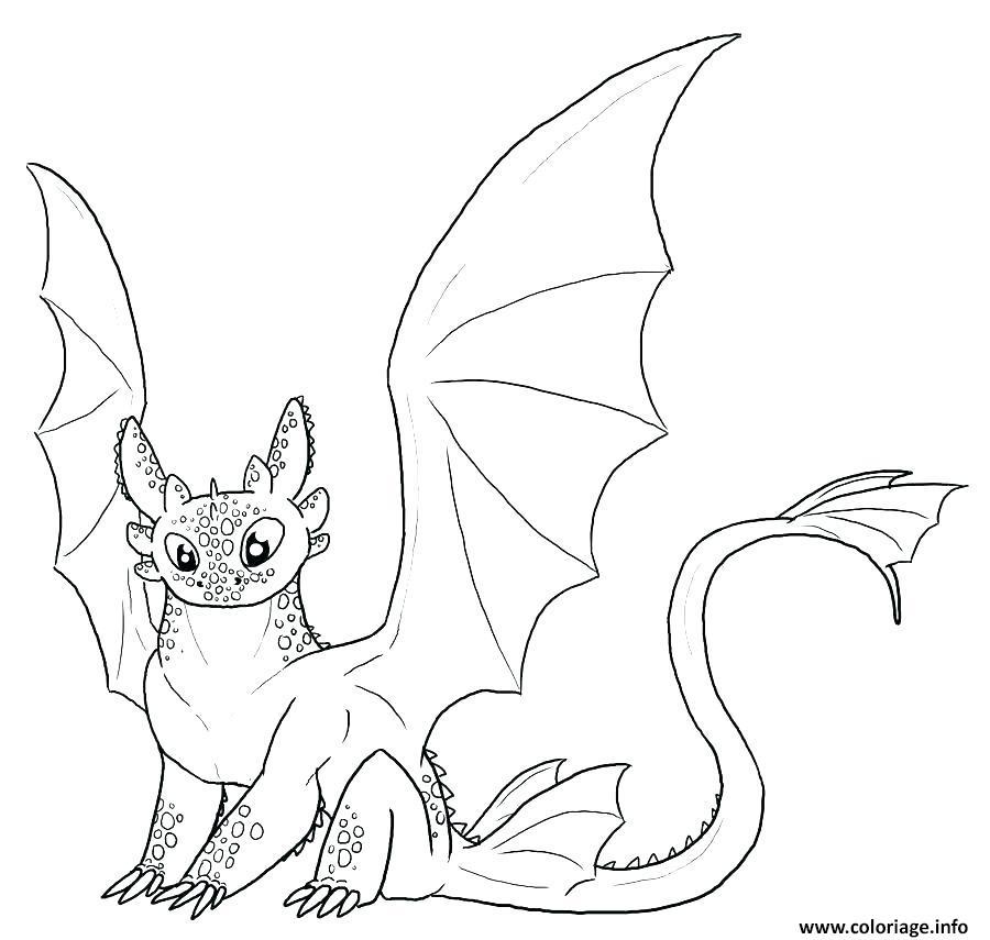Dessin Dragons toothless cute Coloriage Gratuit à Imprimer