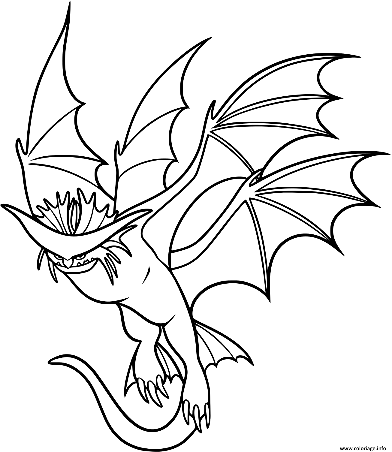 Dessin Cloudjumper Dragon Coloriage Gratuit à Imprimer