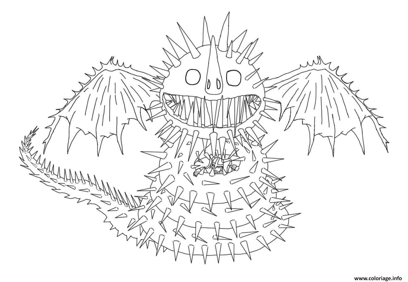 Dessin Whispering Death Dragon Coloriage Gratuit à Imprimer