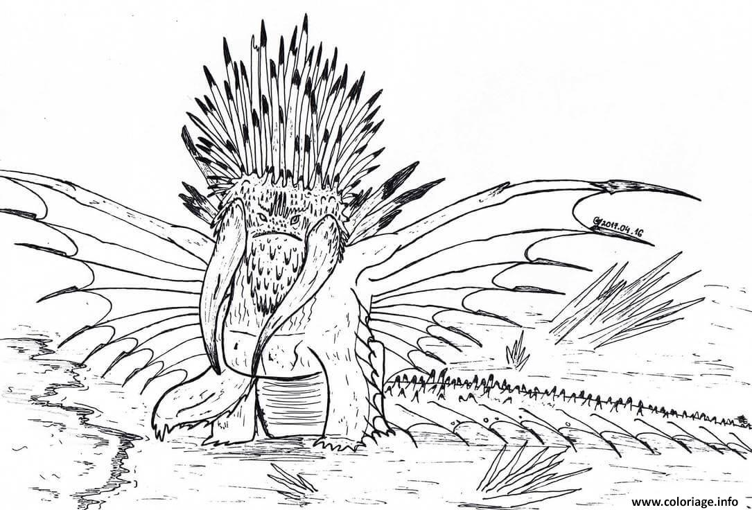 coloriage dragos bewilderbeast dragon  jecolorie