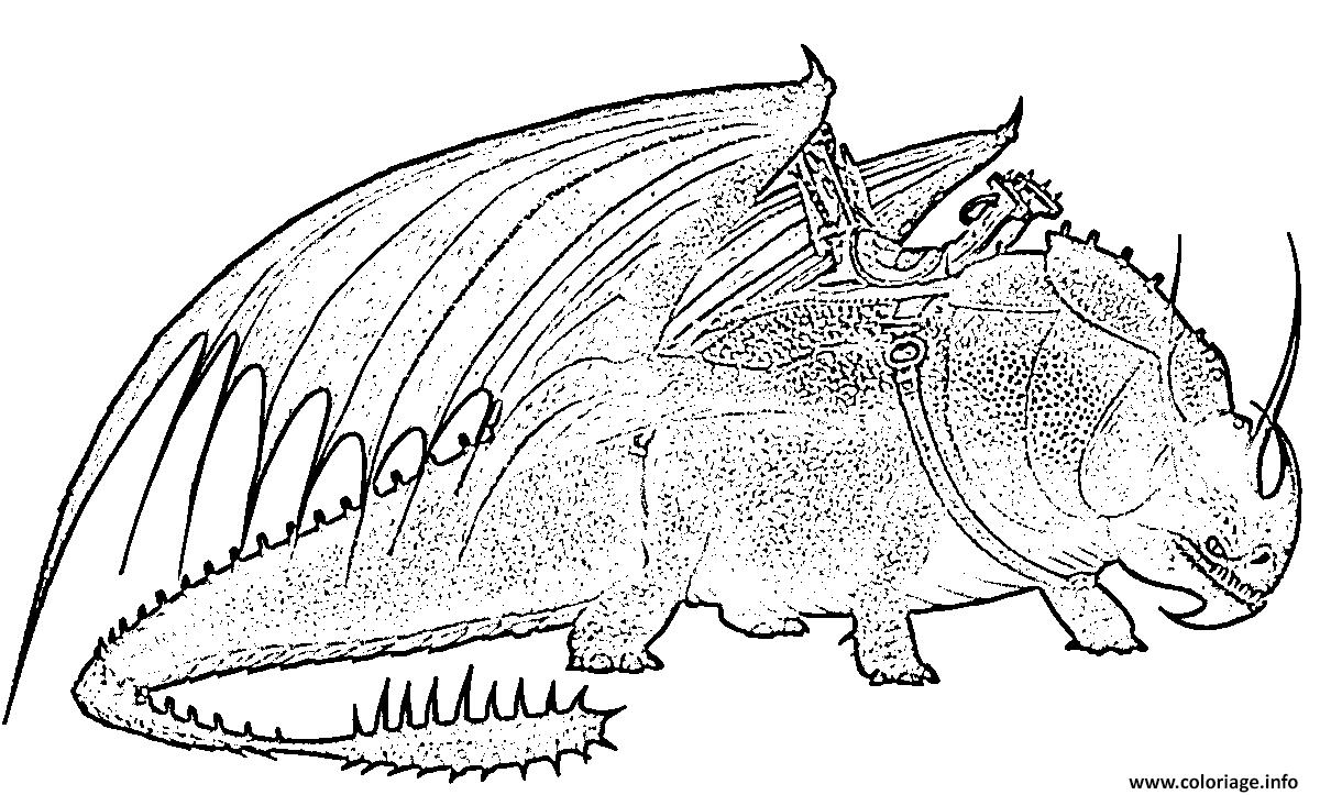 Dessin Skullcrusher Dragon Coloriage Gratuit à Imprimer