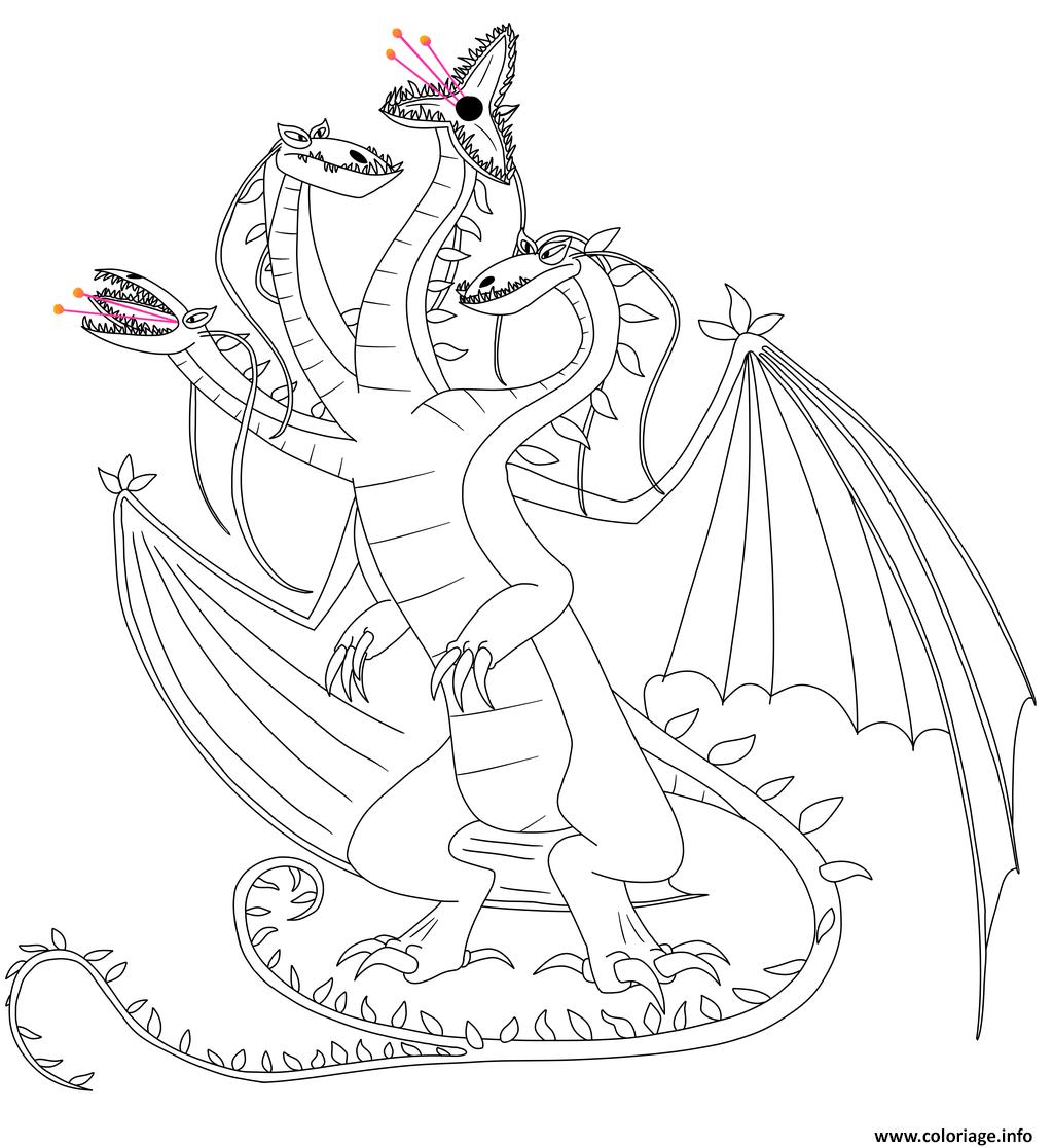 Dessin Snaptrapper Dragon Coloriage Gratuit à Imprimer