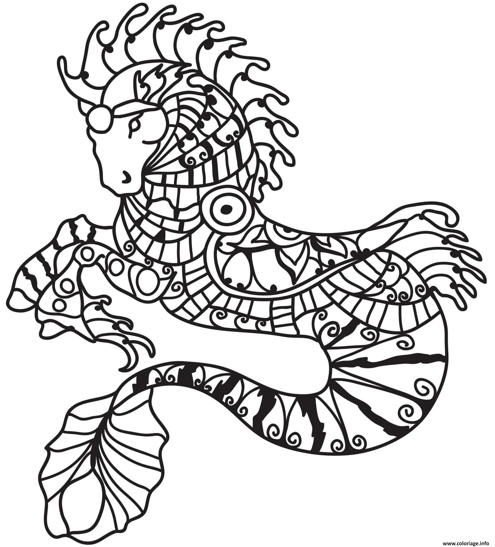 Coloriage Cheval En Mode Sirene Dessin Sirene A Imprimer