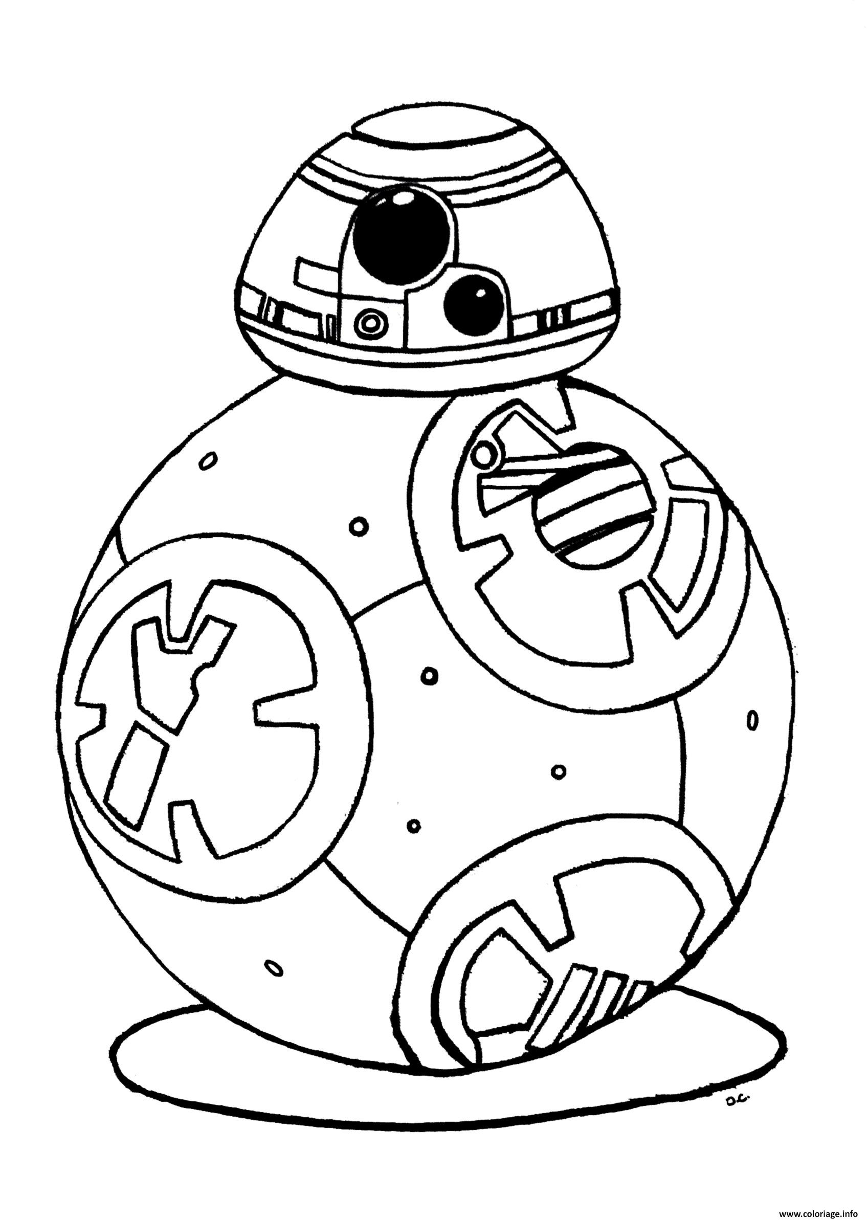 Coloriage Bb 8 Star Wars 7 Reveil De La Force Robot Bb8 Dessin à Imprimer
