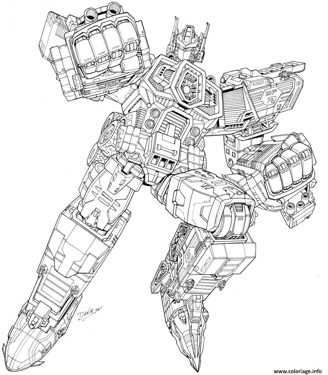 Coloriage Transformers Robots Complexe Dessin