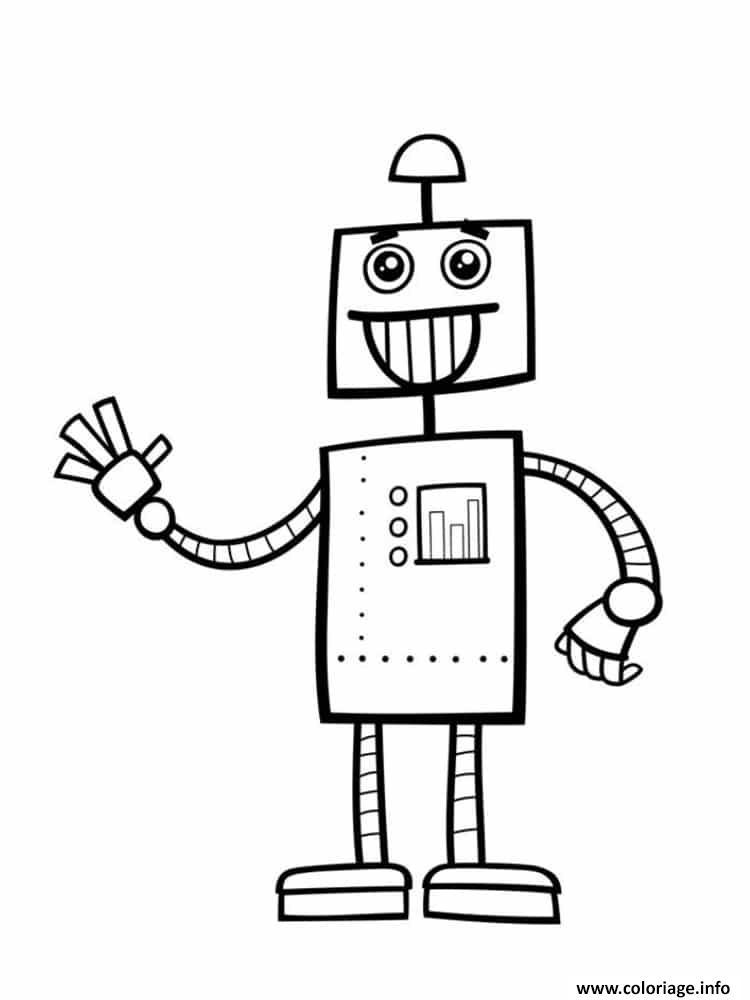 Coloriage Robot Docteur Qui Fait Des Recherches Dessin