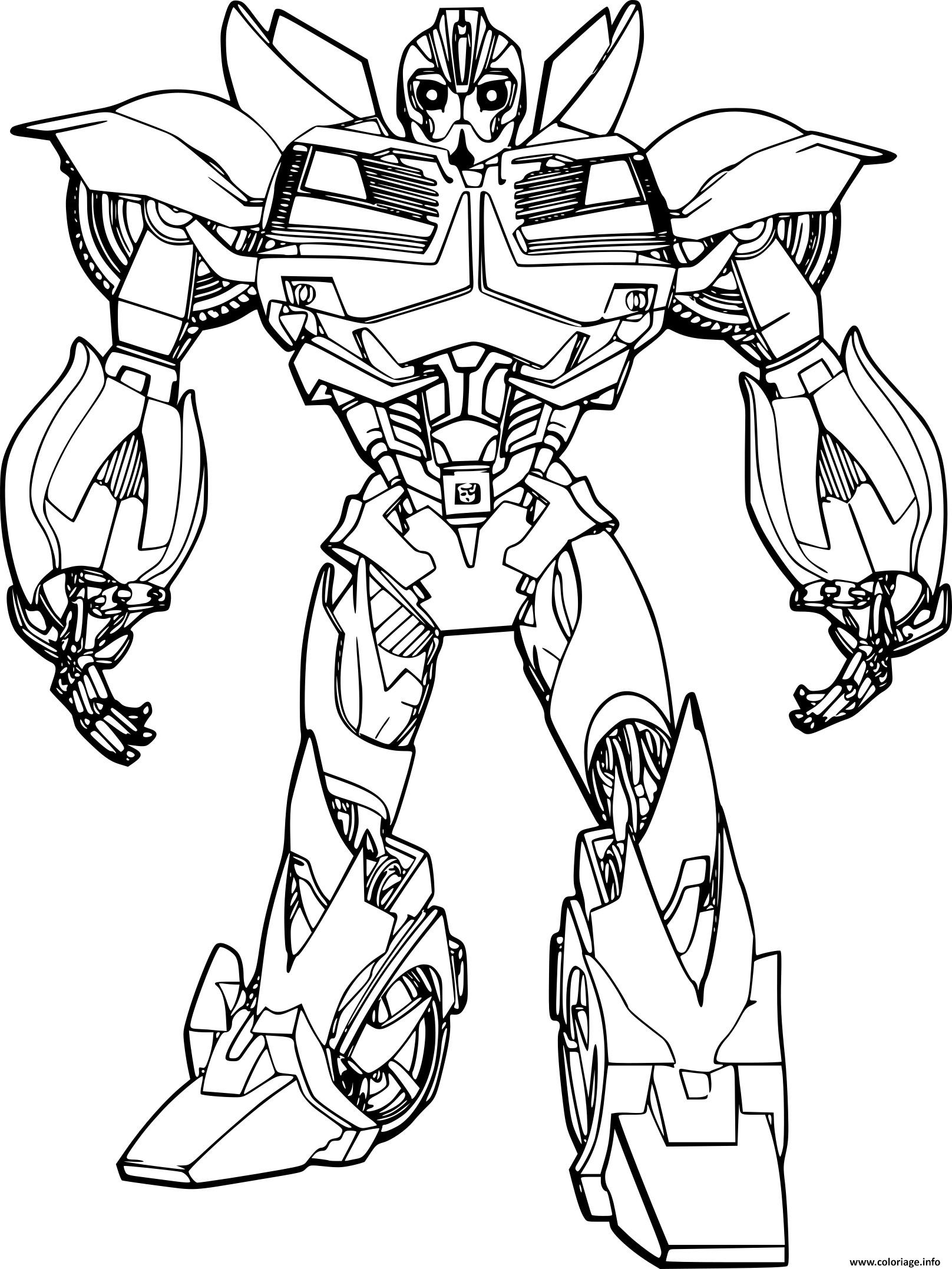 Coloriage Transformers Bumble Bee Dessin