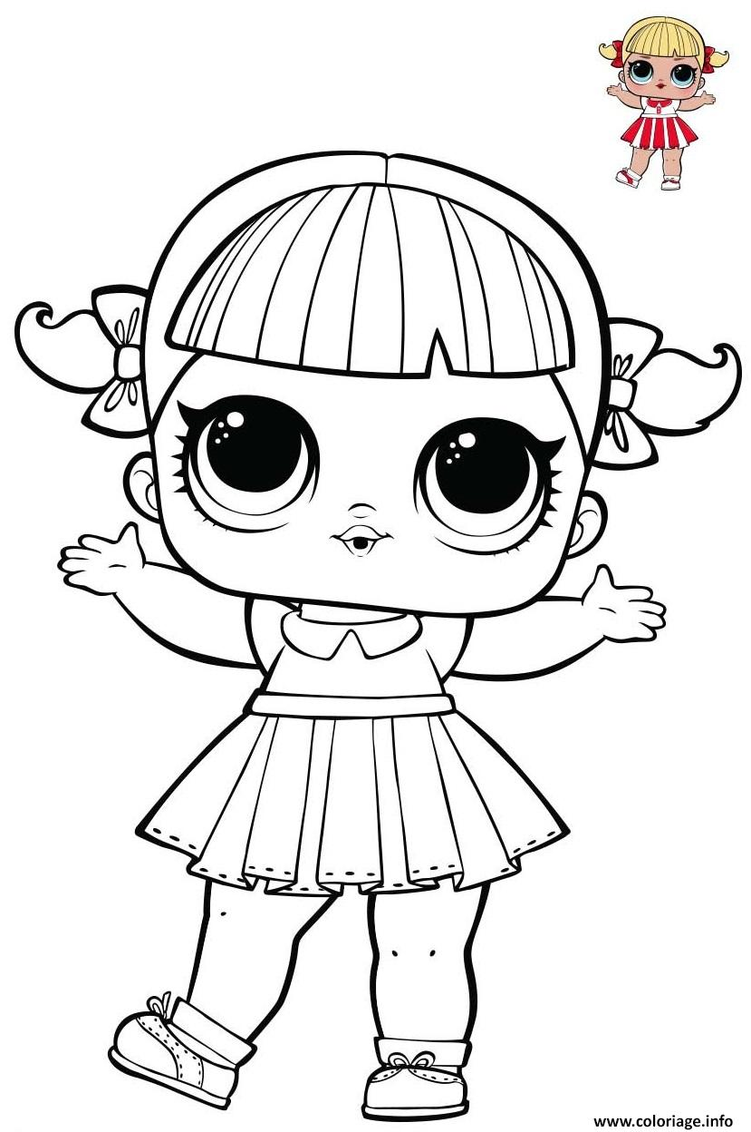 Coloriage Cheer Captain LOL from series 1 Spirit club ...
